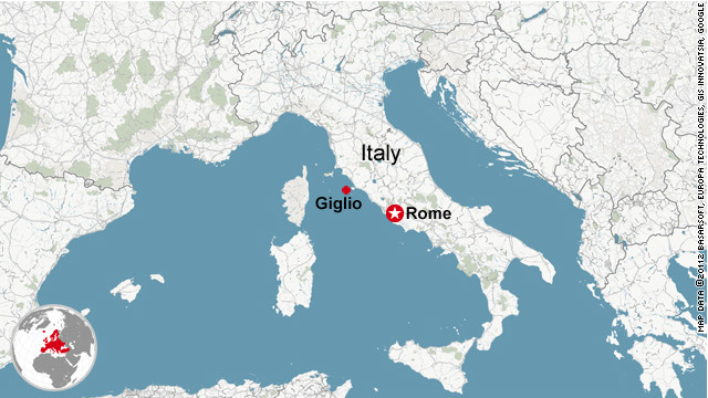 Ship runs aground off Italy