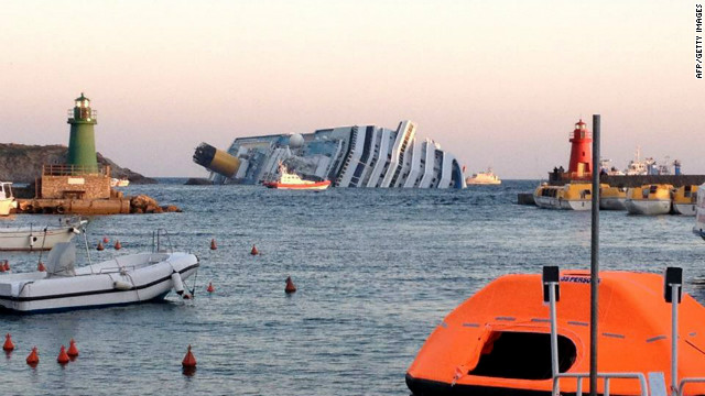 The Costa Concordia was sailing a few hundred meters off the rocky Tuscan coastline of the island of Giglio.