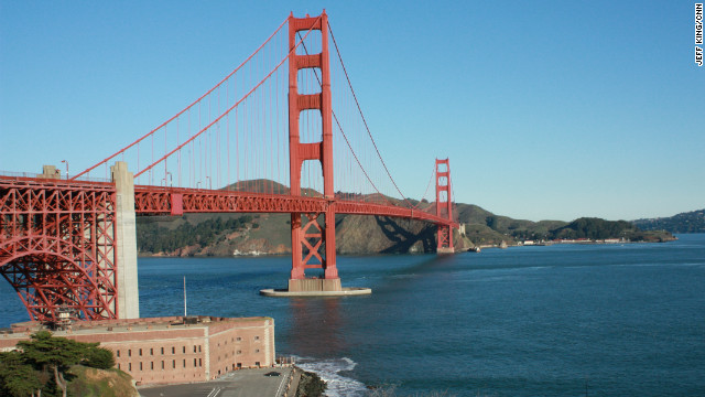 A view of Fort Point under the Golden Gate Bridge, which is celebrating 75 years.