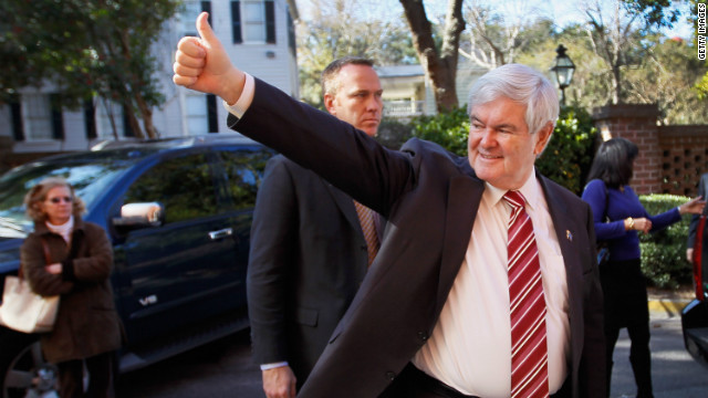 Former House Speaker Newt Gingrich knows the stakes are high as he campaigns in Hilton Head, South Carolina.