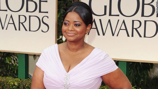 The award for best supporting actress in a film went to Octavia Spencer who played a maid in the Civil Rights era movie