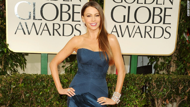 Sofia Vergara stuns on Globes red carpet