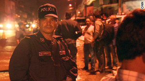 Police patrol the streets of Tegucigalpa, the capital of Honduras, a country with the world\'s highest murder rate.