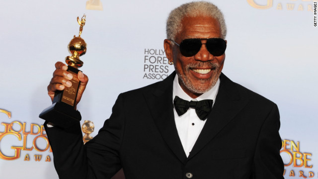 Replay: Morgan Freeman takes a bath in a casket