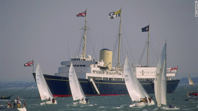 The Royal Yacht Britannia, pictured here on one of her last appearances in 1996, was decommissioned in 1997.