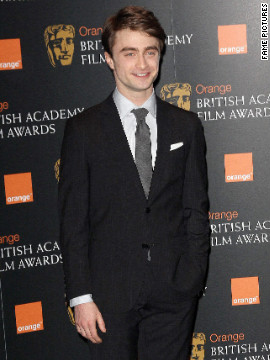 Daniel Radcliffe attends the BAFTA nominations in London.