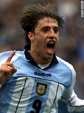 Hernan Crespo is a revered Argentinean striker who represented his country at the 1998, 2002 and 2006 World Cups. He won three Serie A titles with Italian club Internazionale, an English Premier League title with Chelsea and the UEFA Cup with Parma.