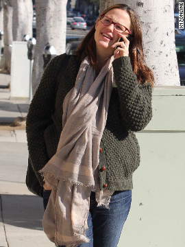 Jennifer Garner gets her nails done in Santa Monica.