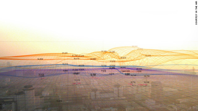 In the Air is a visualization project aimed at making Madrid's citizens more aware of pollution levels in their city.