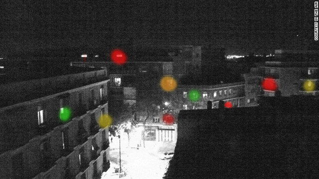 Computer-generated image of In the Air's domestic sensors and visualisers, which are currently in the design stage. 