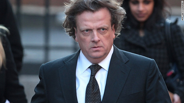 Richard Wallace, editor of The Daily Mirror, arrives at court in London on Monday.