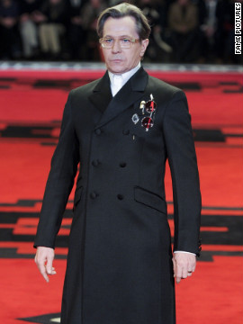 Gary Oldman models at a Parad show in Milan, Italy.