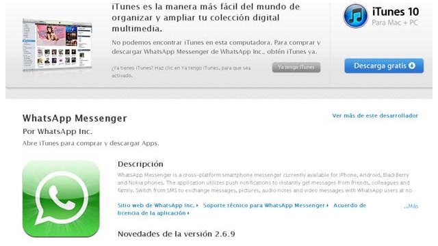 WhatsApp vuelve a la tienda de Apple