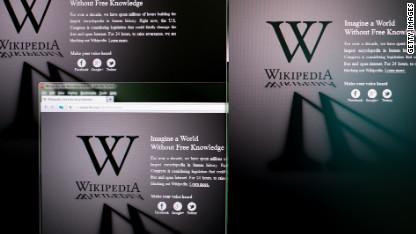 Websites go dark to highlight protest