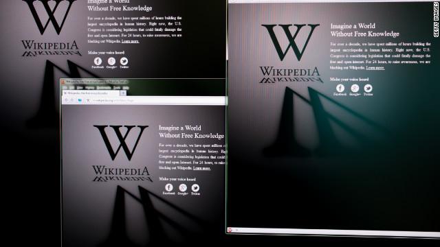 Wikipedia protesta contra la ley SOPA con un «apagón»