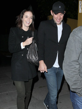 Emily Blunt and John Krasinski leave a restaurant in West Hollywood.