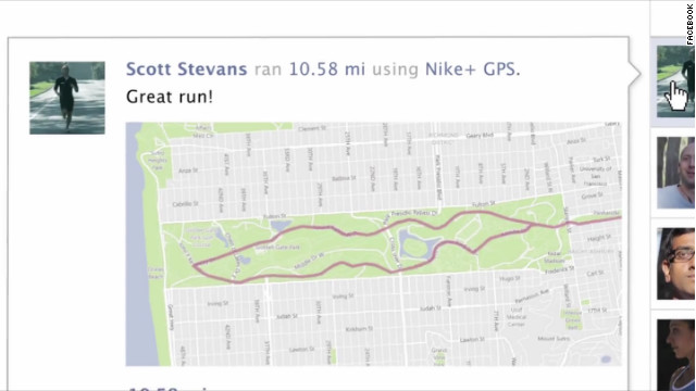 Nike's fitness app was among the 60 launch partners for the new Facebook features.