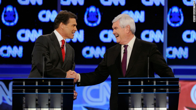 Texas Gov. Rick Perry's departure means former House Speaker Newt Gingrich now leads the