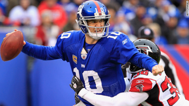 Eli Manning will lead the New York Giants against the San Francisco 49ers in Sunday's NFC championship game