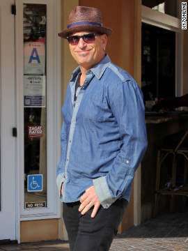 Howie Mandel visits The Grove in Los Angeles.