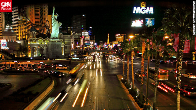 "Patrick Salvador shared this photo of the Las Vegas strip. He visited the city with his family, who was visiting from Australia. ""Vegas is always an awesome place to be,"" he said."