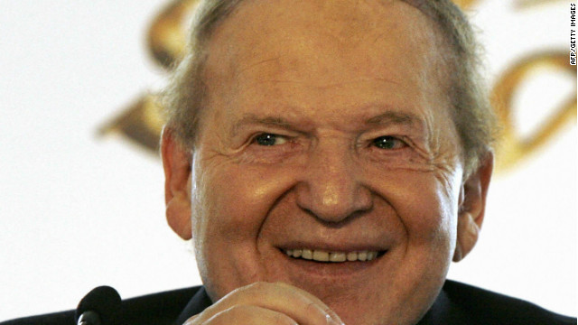 Sheldon Adelson is CEO of Las Vegas Sands.