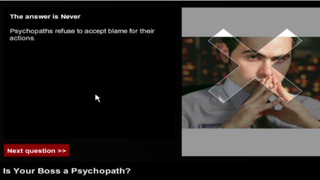¿Tienes un jefe psicópata? Aprende a identificarlo