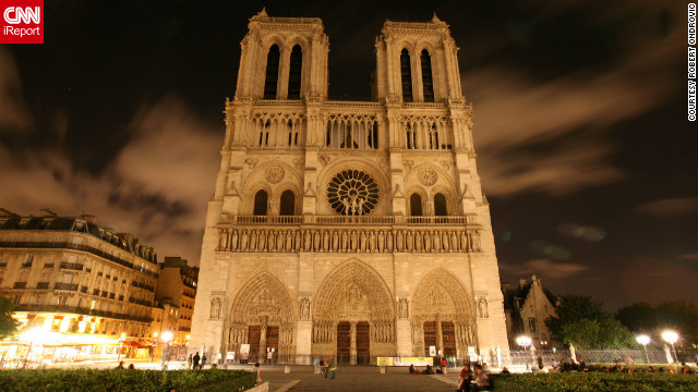 Robert Ondrovic took this photo of Notre Dame during his visit to Paris, which included racing an Acura NSX at the Le Mans race.