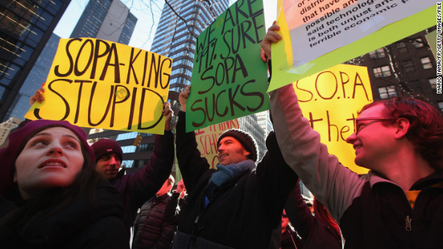El Congreso de EE.UU. aplaza la votación sobre leyes antipiratería