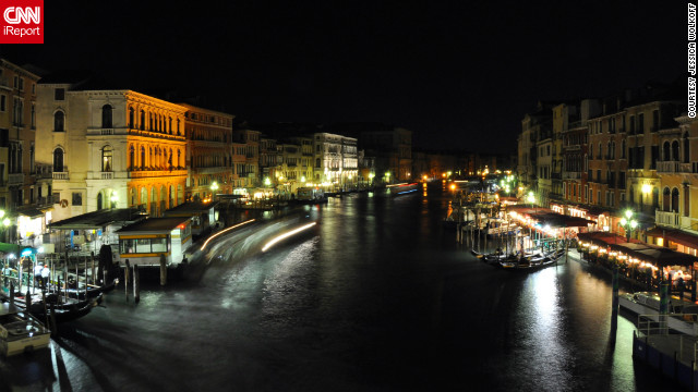 Jessica Wolkoff took this photo from the Rialto Bridge, overlooking the Grand Canal in Venice. &quot;The city is up early and out late. Nature is architecture here, and the weathering of buildings shows a thousand years of history.&quot;