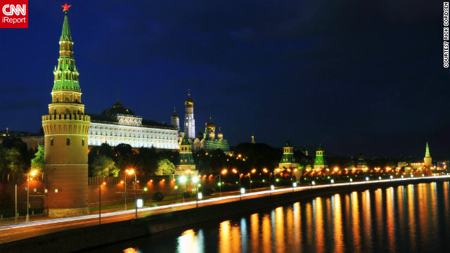 "Rick Cordsen took this photo of the Kremlin in Moscow. ""Moscow is a beautiful place, the people are friendly -- but you have to reach out to them first."""