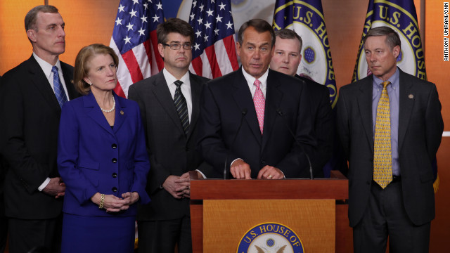 Speaker John Boehner and House GOP leaders discuss President Obama's rejection of the Keystone bid