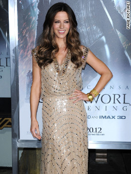 Kate Beckinsale attends a movie premiere in Los Angeles.