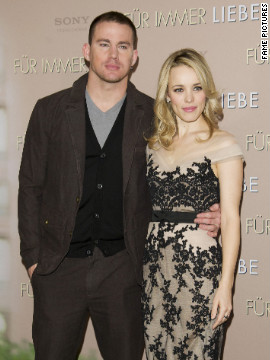 Channing Tatum and Rachel McAdams attend a photo call in Munich, Germany.