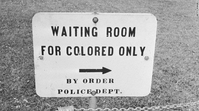 A sign in Jackson, Mississippi, photographed in 1961.