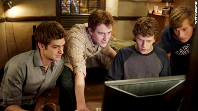 """The Social Network,"" David Fincher's movie about the founding of Facebook, hits theaters, making Mark Zuckerberg a household name. The film is a critical and commercial hit, earning $225 million worldwide and winning three Oscars. Zuckerberg calls the movie a largely inaccurate dramatization but says it gets his casual wardrobe right.<br/><br/>"