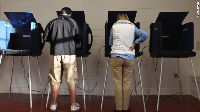 Republican primary voters cast ballots in Charleston, South Carolina, on Saturday.