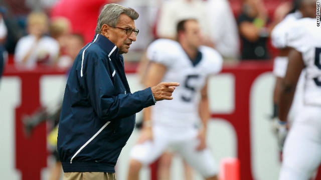 Longtime Penn State Coach <a href='http://www.cnn.com/2012/01/22/us/pennsylvania-obit-paterno/index.html' target='_blank'>Joe Paterno</a> -- whose tenure as the most successful coach in major college football history ended abruptly in November 2011 amid allegations that he failed to respond forcefully enough to a sex abuse scandal involving a former assistant -- died January 22, his family said. He was 85.