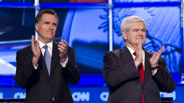 Overheard on CNN.com: Gingrich on offense, Romney on defense, some readers say