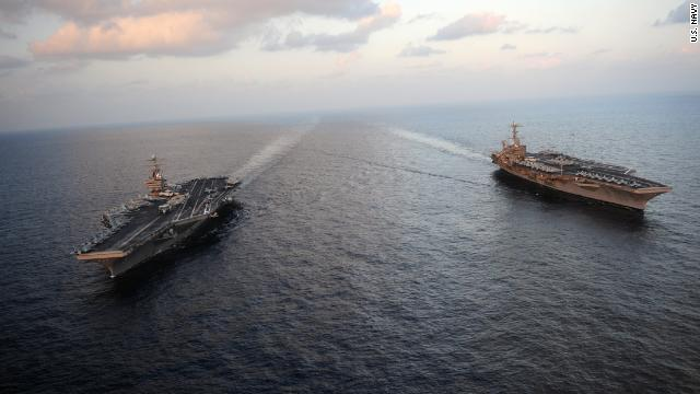 FIRST ON CNN: U.S. considering whether to extend stay of aircraft carriers in waters around Iran