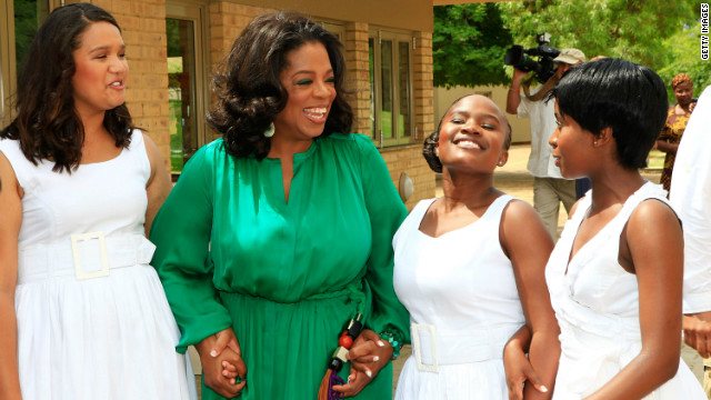<br/>The TV presenter set up the Oprah Winfrey Leadership Academy for Girls to provide world-class high school education to underprivileged girls.