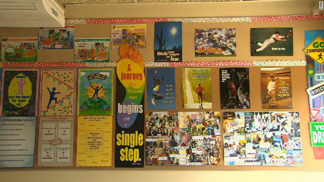 The walls of the classrooms in Winfrey's academy are plastered with posters that advocate the &quot;You go, Girl!&quot; attitude that Oprah is known for.