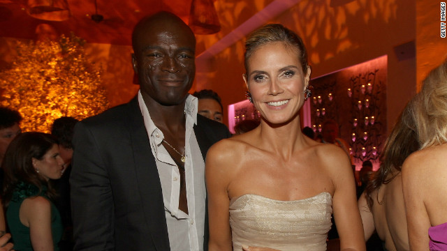 Singer Seal pictured with model Heidi Klum in Hollywood last autumn.