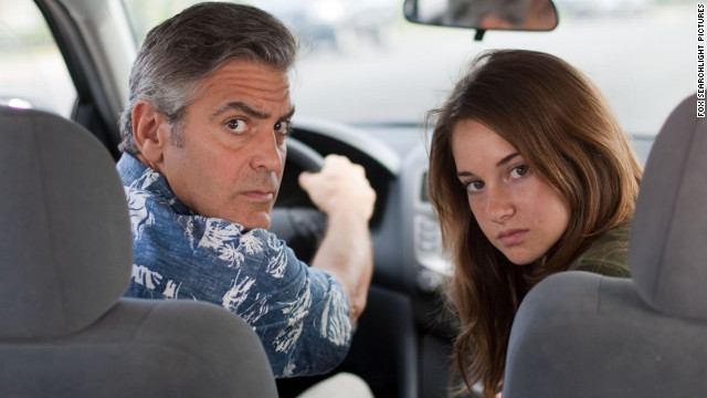 "George Clooney and Shailene Woodley star as a father and daughter struggling to reconnect in Alexander Payne's ""The Descendants."""