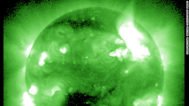 The largest solar storm for seven years is expected to send a shower of &lt;a href='http://www.nasa.gov/mission_pages/sunearth/news/News012312-M8.7.html' target='_blank'&gt;radioactive solar particles racing towards Earth&lt;/a&gt; at almost 1,400 miles a second this week, according to &lt;a href='http://www.nasa.gov/' target='_blank'&gt;NASA&lt;/a&gt;.