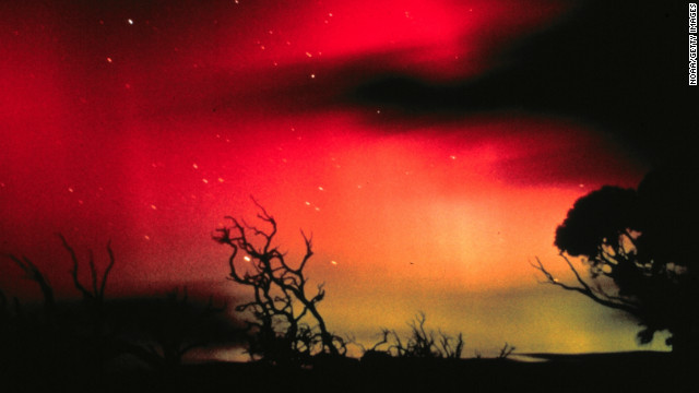 In the southern hemisphere, the same colorful phenomena are known as the Aurora Australis, or Southern Lights. Have you spotted any unusual light displays thanks to the solar flares? <a href='http://ireport.cnn.com/topics/1309' target='_blank'>Submit your photos and video to iReport.</a>