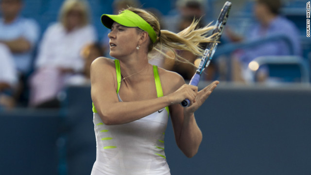 Maria Sharapova strikes the perfect pose as she puts away a forehand during this year's Australian Open. 