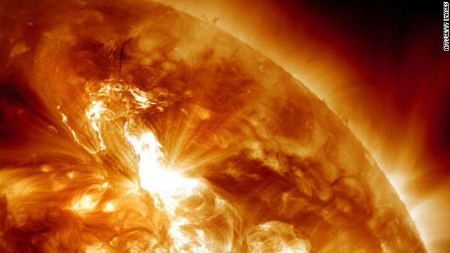 Earth hit with largest solar radiation storm since 2003
