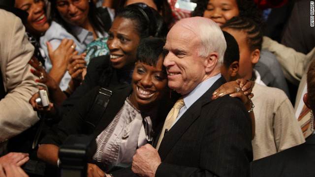 In 2008, GOP presidential candidate Sen. John McCain attended the NAACP convention, but received only 4% of the black vote.