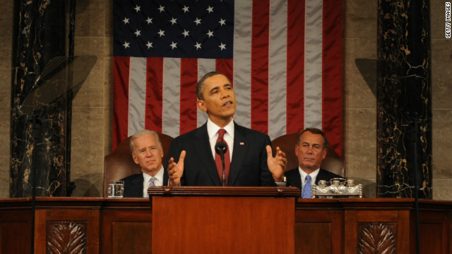 President Obama gives his State of the Union speech before Congress.